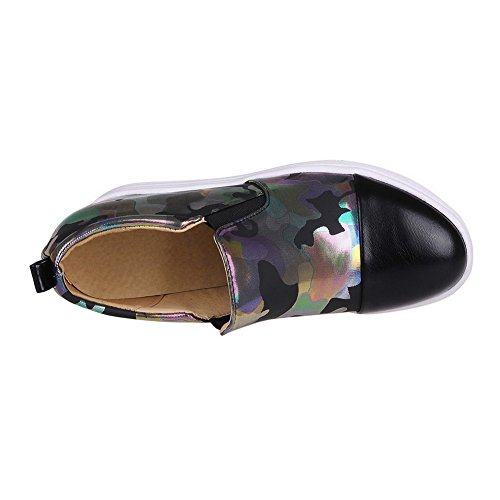 BalaMasa da donna, colori assortiti, motivo: maialino, pompe-Shoes Black