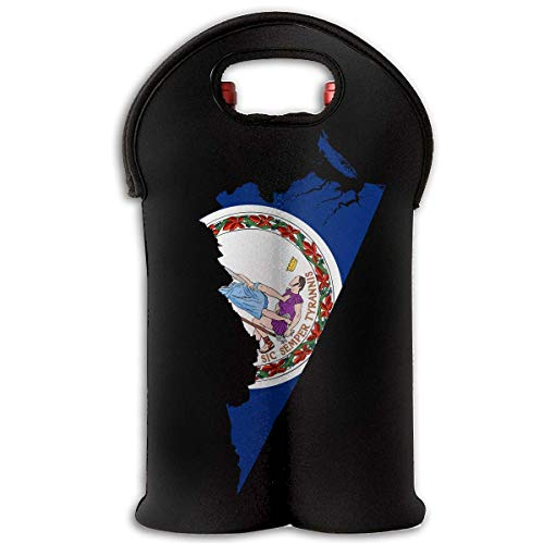 g Two Bottle Wine Carrier Tote Bag Neoprene Wine/Water Bottle Holder Keeps Bottles Protected New10 ()