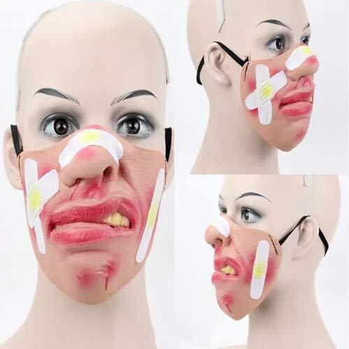 thematys Gruselige & witzige Masken - perfekt für Fasching, Karneval & Halloween - Kostüm für Erwachsene - Latex - 9 Verschiedene Designs (7)
