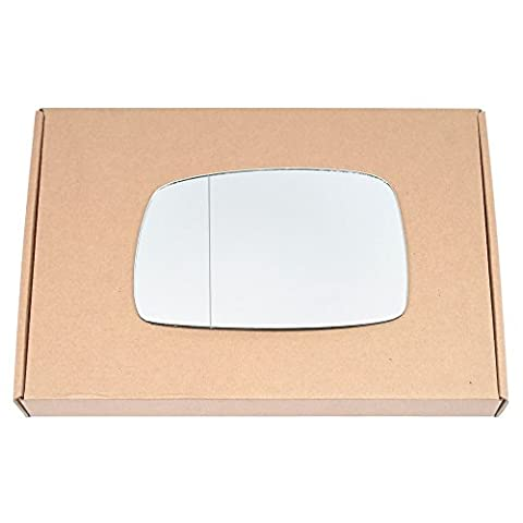 Wide Angle Left passegner side Silver Wing mirror glass for VW Corrado 1988-1995