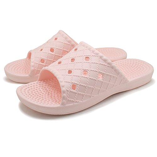 Dusch Badeschuhe KENROLL Sommerurlaub Schuhe Zehentrenner Strandschuhe Flip Flops für Herren für Damen Rosa