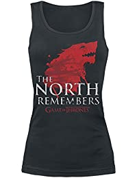Game of Thrones House Stark - The North Remembers Top Femme noir