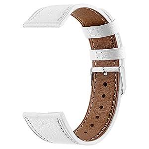 Battnot für Samsung Galaxy Watch active 20mm Uhrenarmbänder Lederersatz Bracelet Uhrenarmband Handschlaufe für Damen Herren Einstellbar Ersatzarmband Adjustable Watchband Replacement Wriststraps