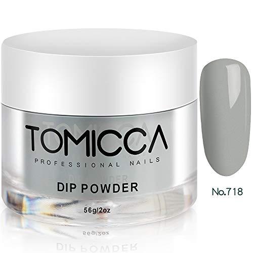 TOMICCA Dipping Powder für Nägel 2 Unzen - Delphin-Grau - 2 Unzen-flasche Gel