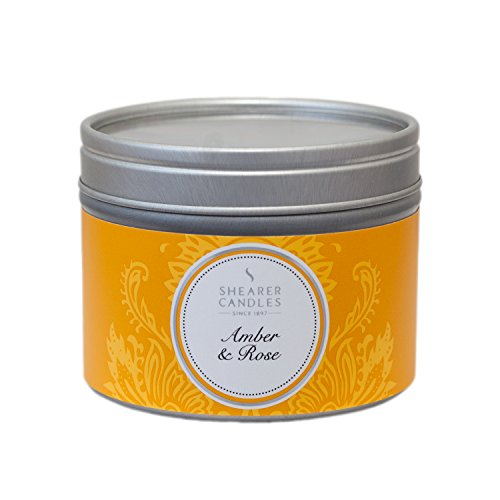 Shearer Candles Amber and Rose Small Scented Silver Tin Candle - White (2013-06-01)