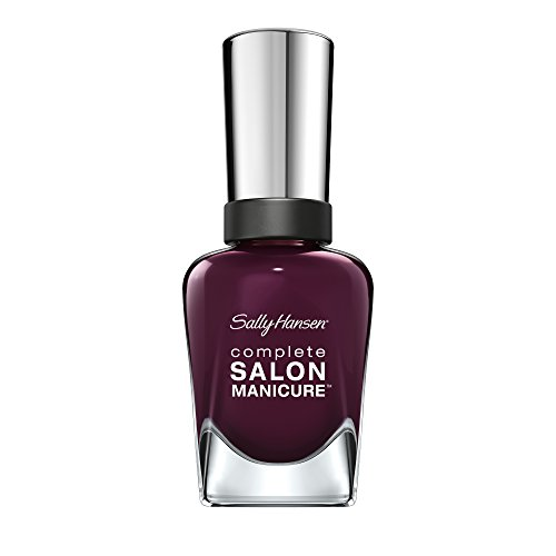 Sally Hansen Complete Salon Manicure Nagellack, Farbe 660, Pat on the Black, dunkles pflaumen / lila, 1er Pack (1 x 15 ml) - Sally Hansen Unterlack