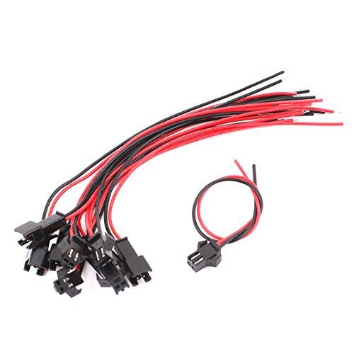 sourcing map 2 Terminal 5 Paar Stecker Buchse EL Wire-Kabel, 10 cm de 5-wire-buchse
