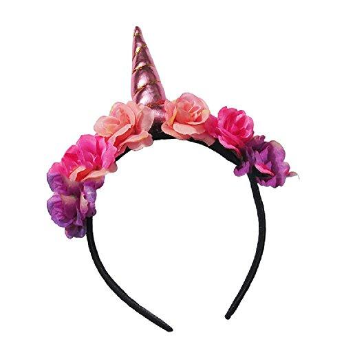 Shangrui Kinder und Erwachsene Spiral Horn Partei Kopfschmuck Mit Farbe Blumen Hairhoop Party zubehör