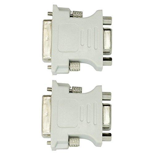 15 Pin Monitor-stecker (DVI-D 24 + 1 25 Pin Stecker auf VGA 15 Pin Female Video-Konverter-Adapter HDTV 2er Pack)