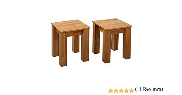 35 x 35 x 45 cm 2 sgabelli Bonn in legno di faggio FSC
