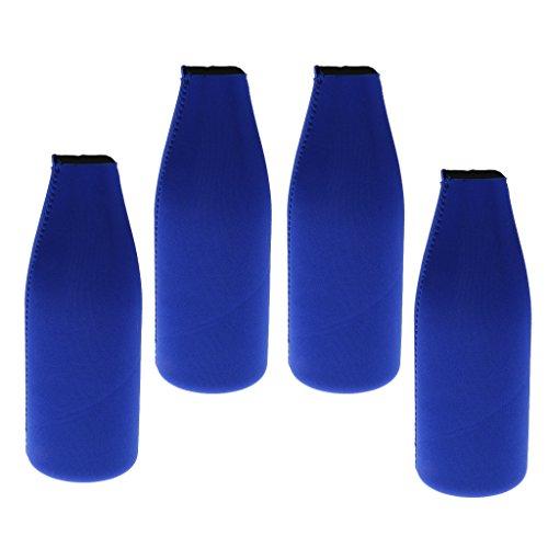 sharprepublic 4X Neopren Flaschenkühler Bierflachen Halter Cool Party Accessoire Blau
