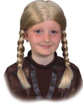 Orlob Kinder Perücke Wikinger Mädchen zu Gretel Kostüm Karneval Fasching (Gretel Kostüm Kinder)