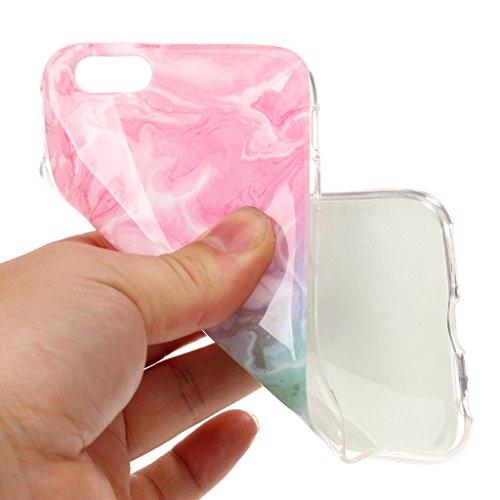 Per iPhone 6 Plus / iPhone 6S Plus Cover , YIGA Moda rosa Marmo Silicone Morbido Molle TPU Case Caso Shell Protezione Copertura Custodia Copertina per Apple iPhone 6 Plus / iPhone 6S Plus (YH75) YH77