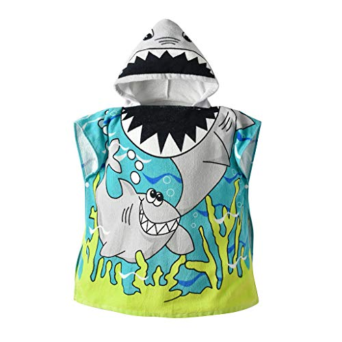 Baby Mädchen Jungen Bademantel Hoodie Umhang Kinder Badetuch Schlafanzug Nachtwäsche Tier Muster Robe Kapuzenpullover Kleid Morgenmantel Lonshell