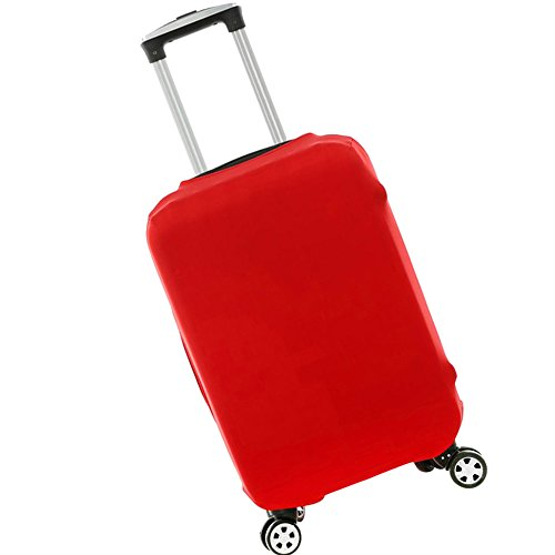 New_Soul Luggage Cover Kofferhülle Kofferschutzhülle Elastisch Gepäck Cover Reisekoffer Hülle (Rot, L)