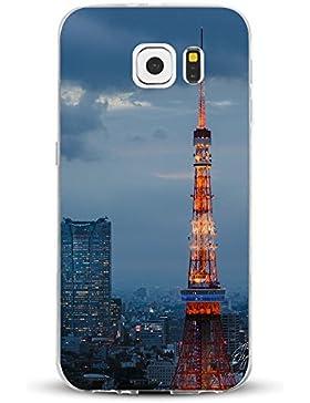 Teryei® Funda Samsung Galaxy S7 Edge Clear TPU Silicona Protección Premium Transparente ultrafina Choque Caso...