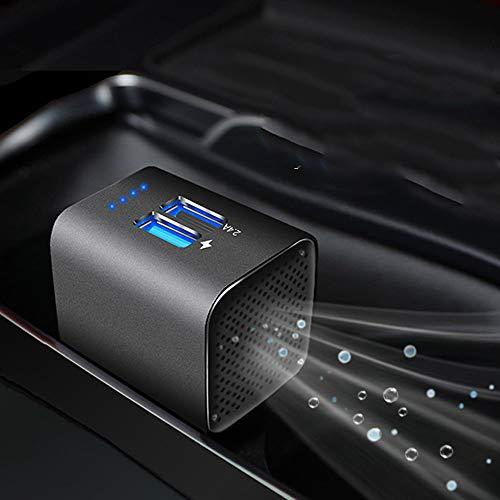 Kefaith Purificatore d'aria auto Filtro auto HEPA ionizzatore USB Caricatore per auto 3.0 dual port-Elimina fumo di sigaretta, cattivi odori, allergeni, odore di animale domestico, polline, batteri