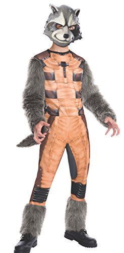 Rubies Guardians of The Galaxy Deluxe Rocket Raccoon Costume, Child (Galaxy The Nebula Guardians Kostüm Of)