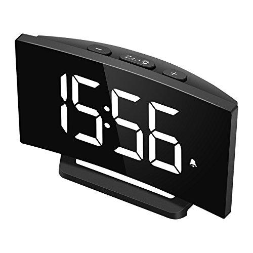 3/Colori Blu porta USB mpow radio sveglia Digitale proiettore snooze schermo LED 5/ 12//24/ORE 5/luminosit/à FM radio Orologio sveglia con proiettore di allarme Dual con 4/suoni