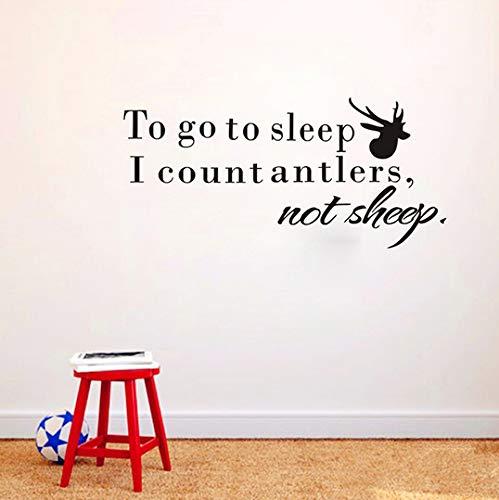 Schlafen Ich Zähle Geweih Nicht Schaf Zitat Wandaufkleber Für Kinderzimmer Wasserdichte Vinyl Wandbilder Abnehmbare Aufkleber Wohnkultur