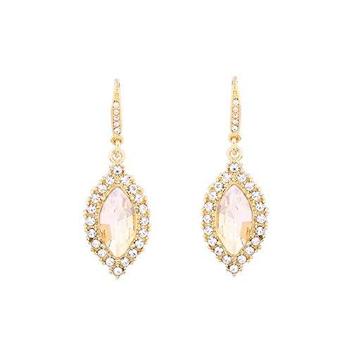 House of Joy Simulierte Topas in Marquiseschliff Diamant Glamours anspruchsvolles Luxus Ohrringe (Verkaufs-diamant-ohrringe)