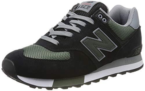 New Balance 574v2, Herren Niedrig, Schwarz (Black/Green), 44 EU (9.5 UK)