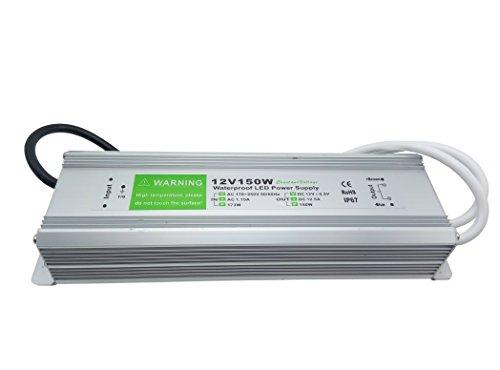 YXH Transformateur Convertisseur Conducteur,150 Watt, AC 220Và DC 12V Aalimentation IP67 étanche convient pour éclairage LED ruban, Modules LED et DC Outdoor éclairages