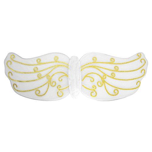 03Gold Muster Engel Flügel, Damen, one size (Engel Flügel Muster Für Kostüme)