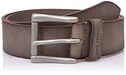 Lino Perros Mens Leather Belt (8903421300426_LMBE00293_Free Size_Grey)