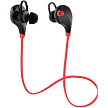 SoundPEATS QY7  In-Ear Wireless Sports Headphone  (Black/Red)