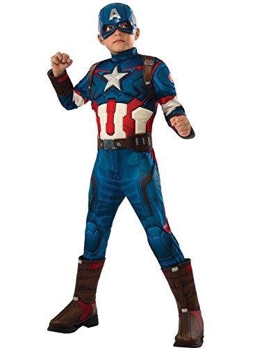 Chiber - Captain America Deluxe – Kinder Kostüm (Größe 10)