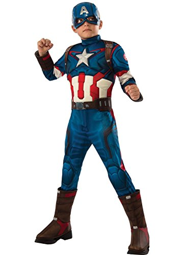 Imagen de disfraces chiber  disfraz de capitán américa de lujo para niño. talla 6