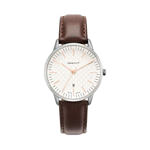 Gant Reloj Analógico para Hombre de Cuarzo con Correa en Cuero 7630043930953
