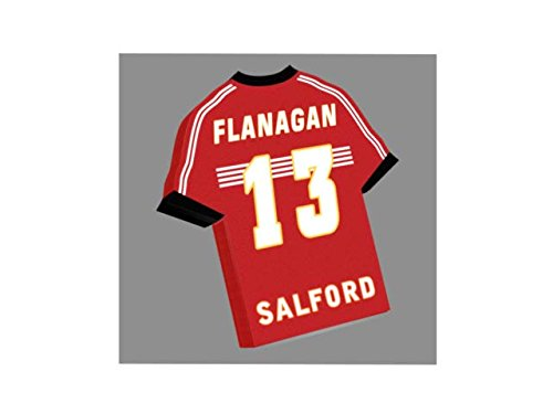 Wölfe Home Trikot (Bet Fred Super League–Rugby League Jersey Kühlschrank Magnet–Sie den Namen, Anzahl und Team Farben, kostenlose Personalisierung. Salford Reds Fridge Magnet)