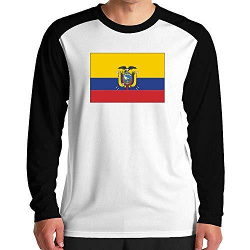 Idakoos Ecuador Flag Rectangular Raglan Langarm T-Shirt M -