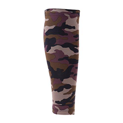 perfk Sports Kompressionsstrümpfe ohne Fuß - für Männer & Frauen - Kompression Wadenbandage Calf Sleeves - für Laufen, Radfahren, Joggen, Sport & Fitness - XL