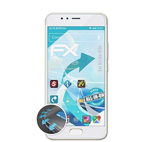 atFolix Schutzfolie passend für Meizu M5s Folie, ultraklare & Flexible FX Bildschirmschutzfolie (3X)