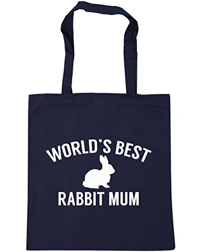 hippowarehouse-worlds-best-rabbit-mum-tote-shopping-gym-beach-bag-42cm-x38cm-10-litres