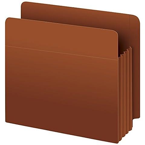 Pendaflex 95343 Heavy-Duty Drop Front End Tab File Pockets, Letter, 3-1/2