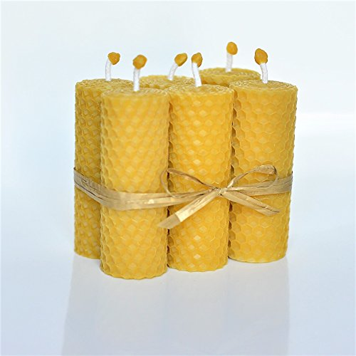 100-beeswax-pillar-candles-set-of-6-size-85-x-3-cm-eco-candles-hand-rolled-natural-and-lovely-honey-