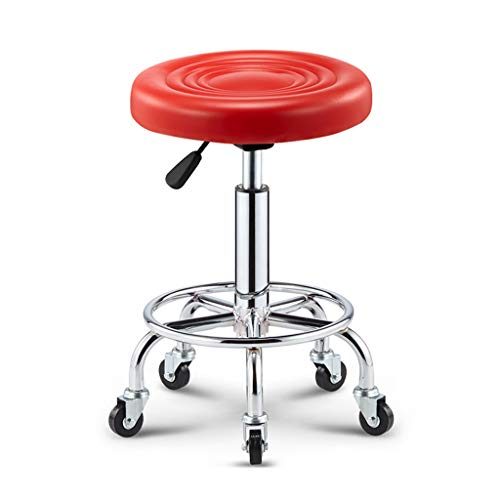 Adjustable Rolling Swivel Stool For Salon Spa Massage Tattoo Facial Medical Pu Leather Stool With Wheels And Metal Stool…