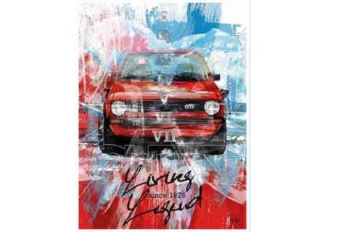 VW GTI Poster/Kunstdruck 40 Jahre GTI 'Living Legend since 1976' - 5GD087799A (Living Legends Poster)
