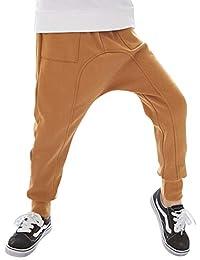 Yonglan Niños Pantalones Harem Casual Además De Terciopelo Largo Pantalones CaféJR 120CM