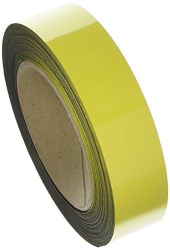 Swiftpak 7288 chiusura magnetica, facile da pulire, striscia scaffali, 30 mm x 10 m, colore: giallo