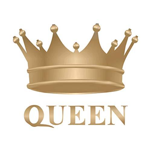 TENNER.LONDON Queen's Crown Bügelbild auf Siebdruck Stoff Applikation Maschinenwäsche Transfer Royal Queen Crown Crown