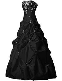 sunvary elegante a-line Sweetheart largo satén quinceañera vestidos fiesta de vestido ...