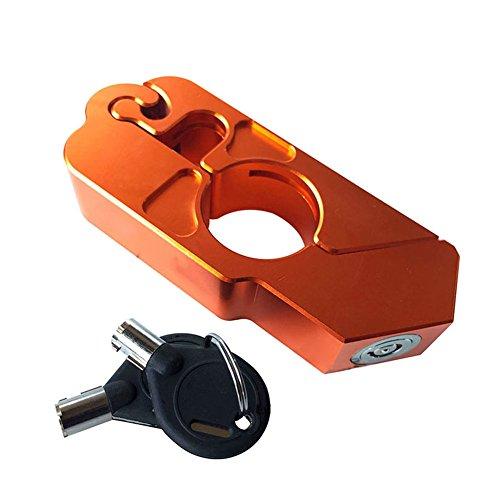 Preisvergleich Produktbild Rokoo CNC Motorrad Scooter Bike Lenker Sicherheitsschloss Bremse Gasgriff Schutz mit Tasten