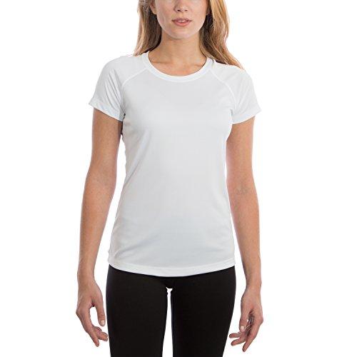 Vapor Apparel Damen UPF 50+ UV Sonnenschutz Kurzarm Performance T-Shirt Weiß