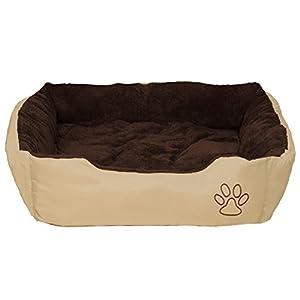 TecTake Lit douillet pour chiens 80x60x18cm panier corbeille couchage brun