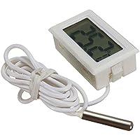 Daorier Digital LCD Termómetro para Acuario, monitor de temperatura -50℃ a 110°C